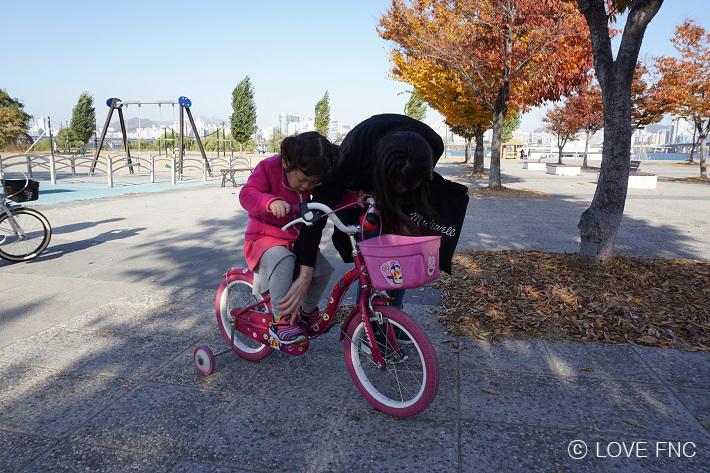 [스토리] 아이들과 함께 자전거 타러 출발!